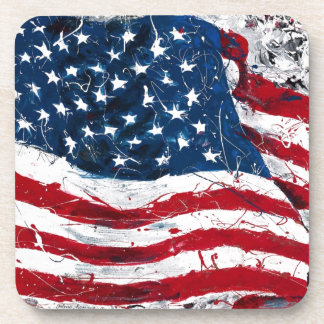 Drapeau américain dessous-de-verre