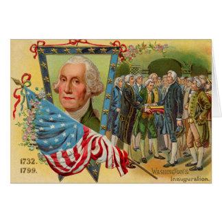 Drapeau américain d'inauguration de George Carte