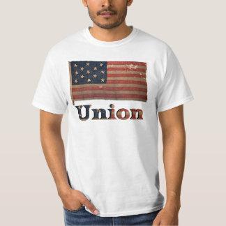 Drapeau antique affligé de guerre civile d'armée t-shirt