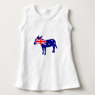 Drapeau australien - âne robe sans manche