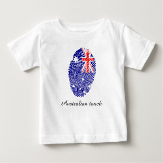 Drapeau australien d'empreinte digitale de contact t-shirt pour bébé