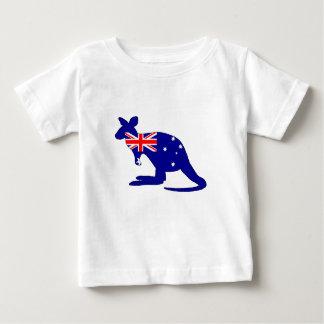 Drapeau australien - kangourou t-shirt pour bébé