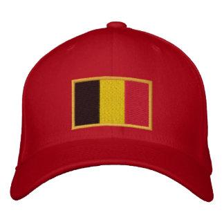Drapeau belge brodé sur le casquette chapeau brodé