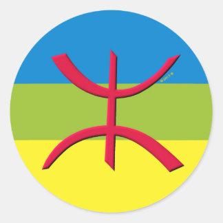 drapeau berbere amazigh sticker rond