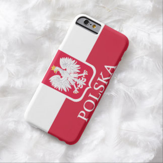 Drapeau blanc de Polska Eagle Coque Barely There iPhone 6