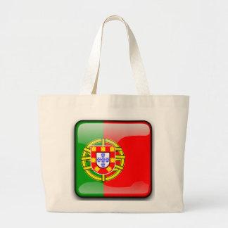 Drapeau brillant du Portugal Grand Sac