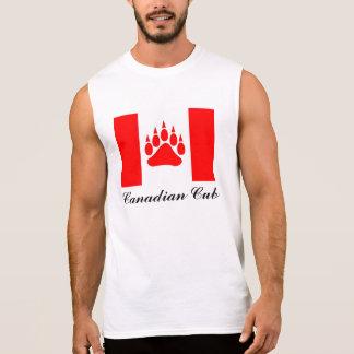 Drapeau canadien de CUB de Canadien avec la patte T-shirt Sans Manches