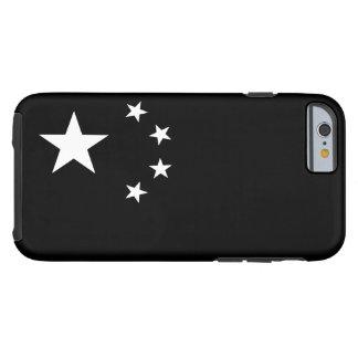 Drapeau chinois noir et blanc coque tough iPhone 6