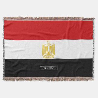 Drapeau classique de l'Egypte Couvre Pied De Lit