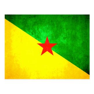 Drapeau coloré de Guyanais de contraste Carte Postale