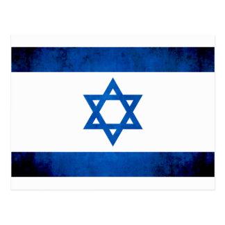 Drapeau coloré d'Israélien de contraste Carte Postale