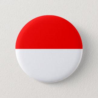 Drapeau d'Alsace-Lorraine Badge Rond 5 Cm