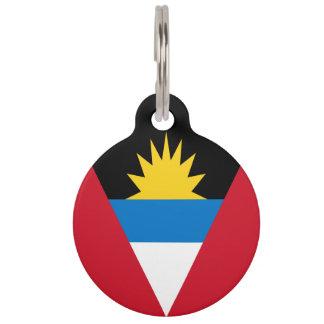 Drapeau d'Antigua-et-Barbuda Médaillon Pour Animaux