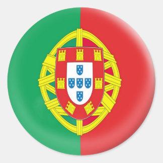 drapeau de 6 grand d'autocollants Portugais du Sticker Rond
