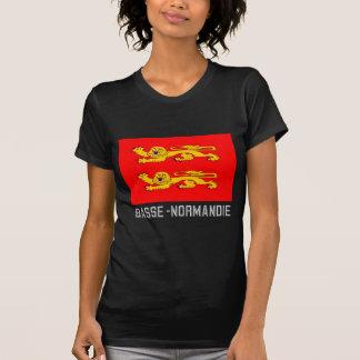 Drapeau de Basse-Normandie avec le nom T-shirt