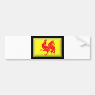 Drapeau de Belgique-Wallon Autocollant De Voiture