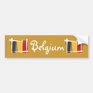 Drapeau de brosse de la Belgique Autocollant Pour Voiture