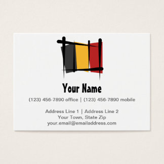 Cartes De Visite Drapeau Belge