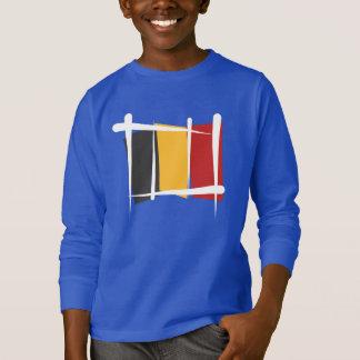 Drapeau de brosse de la Belgique T-shirt