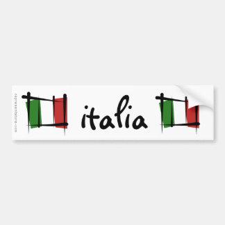 Drapeau de brosse de l'Italie Autocollant De Voiture