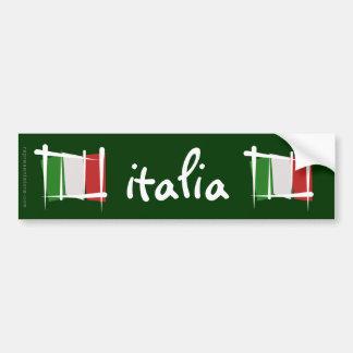 Drapeau de brosse de l'Italie Adhésif Pour Voiture