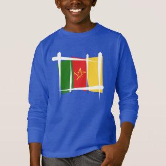 Drapeau de brosse du Cameroun T-shirt