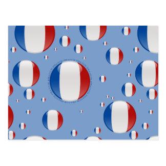 Drapeau de bulle de la France Carte Postale