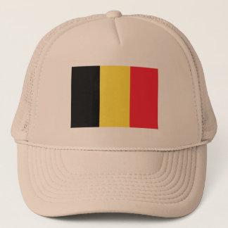Drapeau de casquette de camionneur de la Belgique
