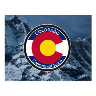 Drapeau de circulaire du Colorado Carte Postale