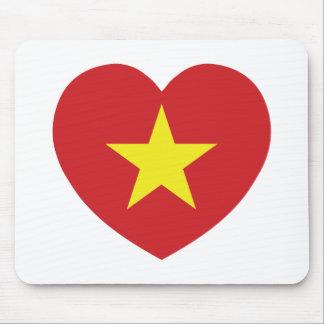 Drapeau de coeur du Vietnam Tapis De Souris