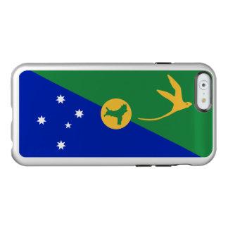 Drapeau de coque iphone d'argent d'Île Christmas
