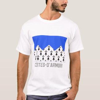 Drapeau de Côtes-d'Armor avec le nom T-shirt
