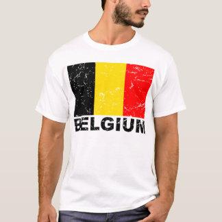 Drapeau de cru de la Belgique T-shirt
