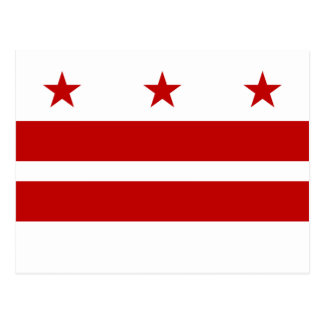 Drapeau de DC de Washington Carte Postale