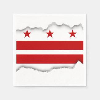 Drapeau de DC de Washington Serviettes Jetables