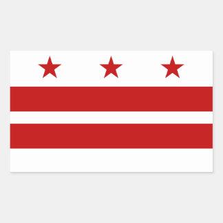 Drapeau de DC de Washington Sticker Rectangulaire