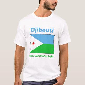 Drapeau de Djibouti + Carte + T-shirt des textes
