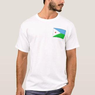 Drapeau de Djibouti et T-shirt de carte