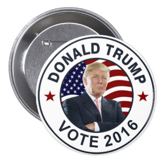 Drapeau de Donald Trump USA Badge Rond 7,6 Cm