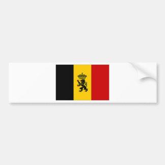 Drapeau de drapeau de gouvernement de la Belgique Autocollant De Voiture