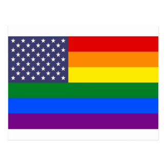 Drapeau de fierté des USA Carte Postale