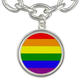 Drapeau de gay pride bracelet avec breloques