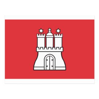 Drapeau de Hambourg Carte Postale
