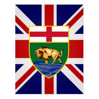Drapeau de haute qualité du Canada Manitoba Carte Postale