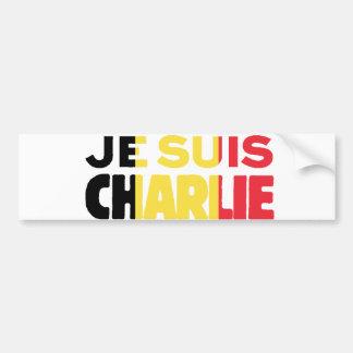 Drapeau de Je Suis Charlie-Je AM Charlie-Belgique Autocollant De Voiture