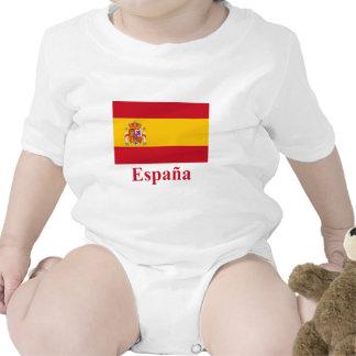 Drapeau de l Espagne avec le nom dans l Espagnol T-shirts