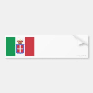 Drapeau de l Italie 1861-1946 Autocollant Pour Voiture