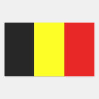 Drapeau de la Belgique Autocollant Rectangulaire
