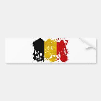 Drapeau de la Belgique Autocollant De Voiture