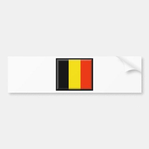 Drapeau de la Belgique Autocollants Pour Voiture